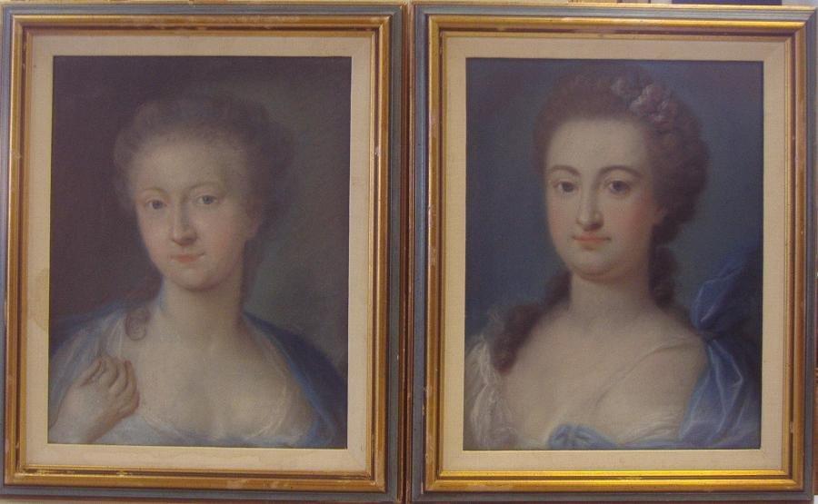 Pair of 19thc Pastel Portraits