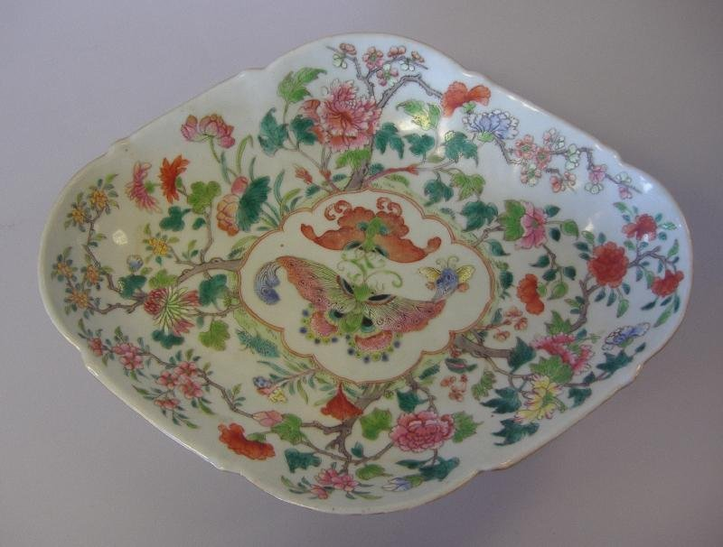 Chinese Porcelain Footed Fruit Bowl, Jiaqing Mark