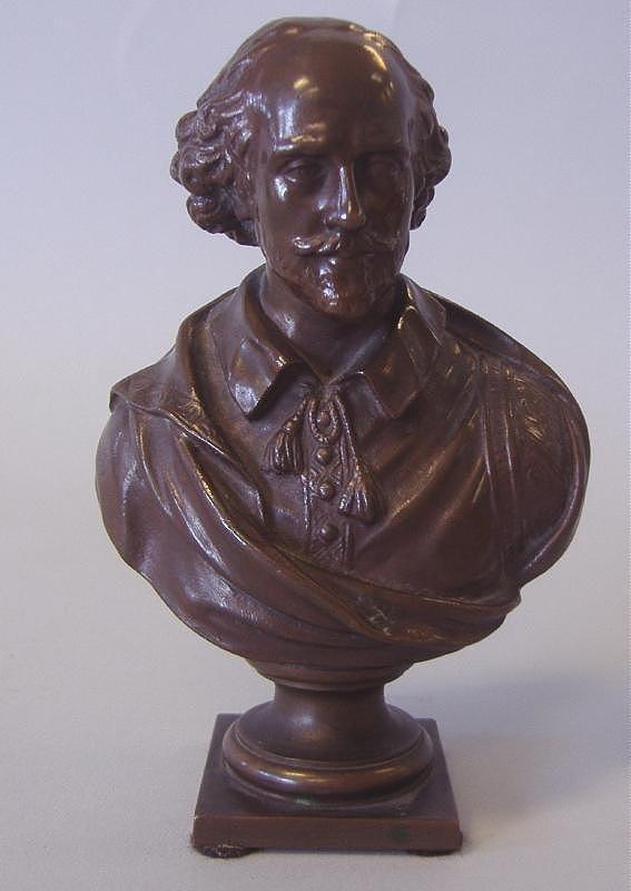 F. BARBEDIENNE Bronze Model of Shakespeare