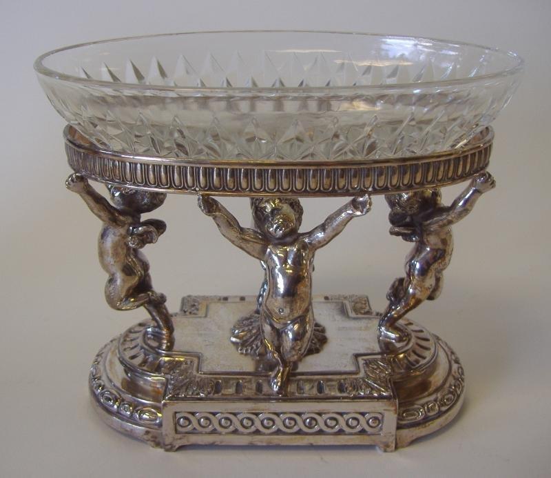 PAIRPOINT Silver Plate Cherub Centerpiece Bowl