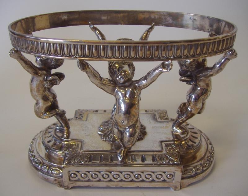 PAIRPOINT Silver Plate Cherub Centerpiece Bowl - 2