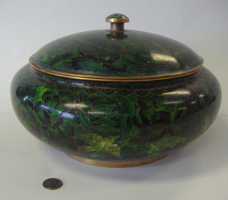 Chinese Cloisonne Enamel Covered Box or Bowl