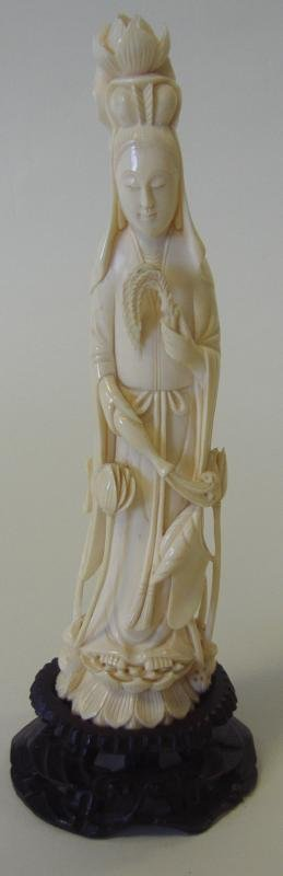 Chinese Carved Ivory Female Figure
