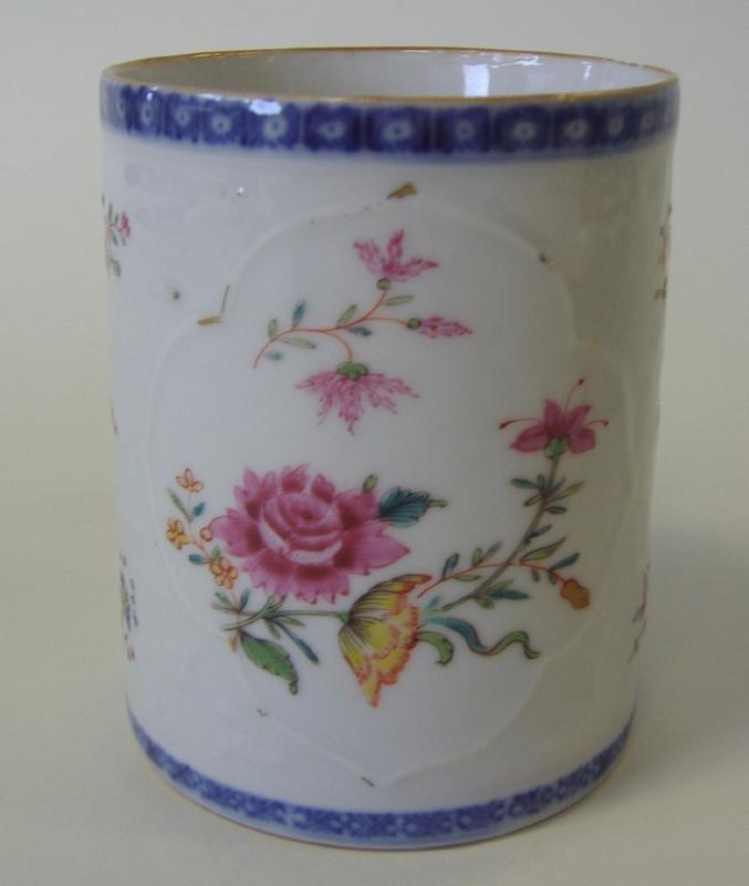 18thc Chinese Export Porcelain Famille Rose Mug