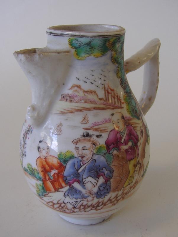18th Chinese Export Porcelain Famille Rose Creamer