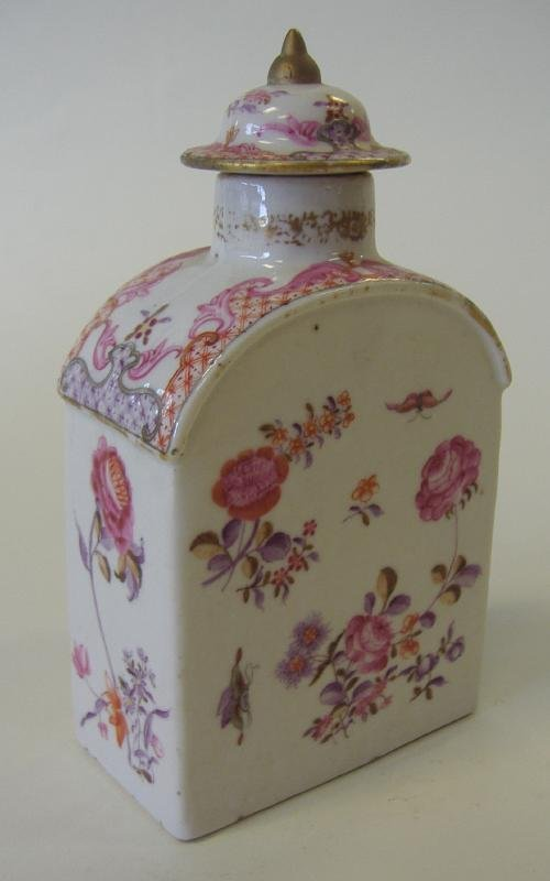 18thc Chinese Porcelain Famille Rose Tea Caddy