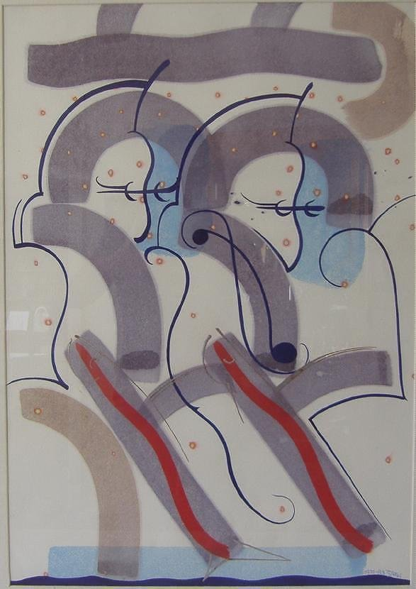 CHARLES STOKES (1944-2008) Abstract Watercolor