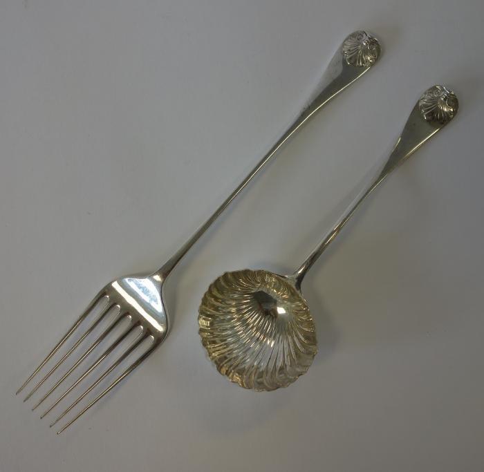 Stieff Sterling Williamsburg Ladle & Serving Fork