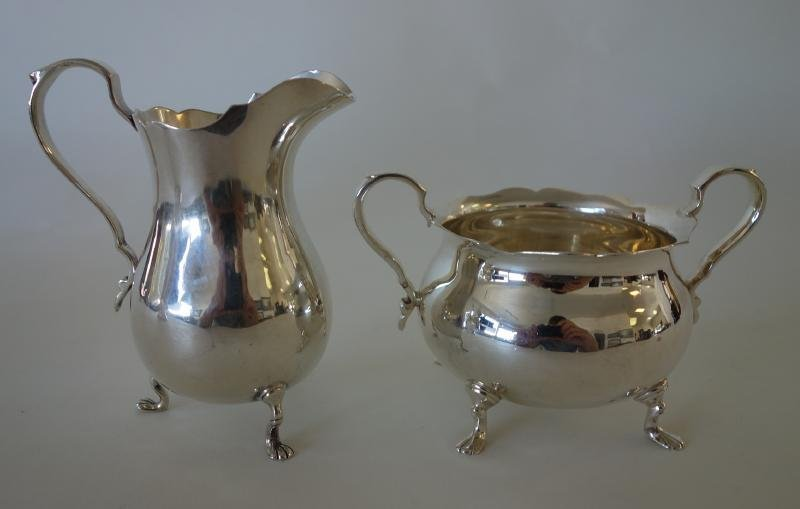 Sterling Pitcher & Sugar Bowl, Exemplar by Watson