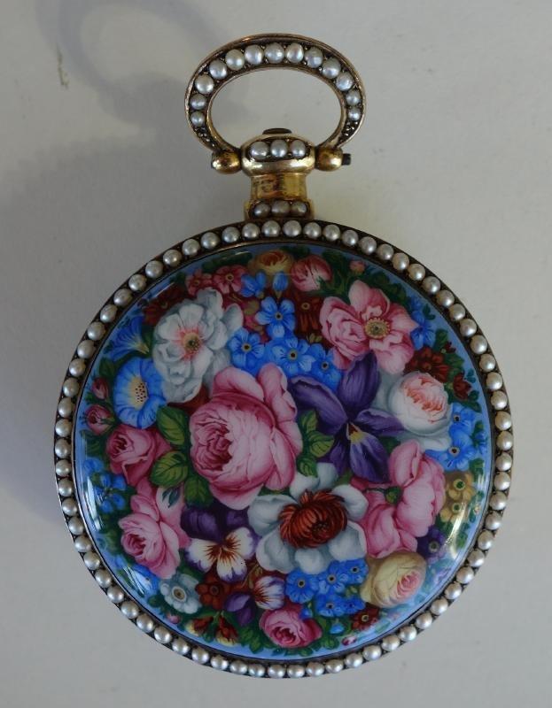 19thc Gilt & Enamel Pocket Watch, Chinese Signed