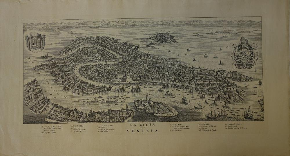 La Citta Di Venezia  Engraving Map of Venice - 2