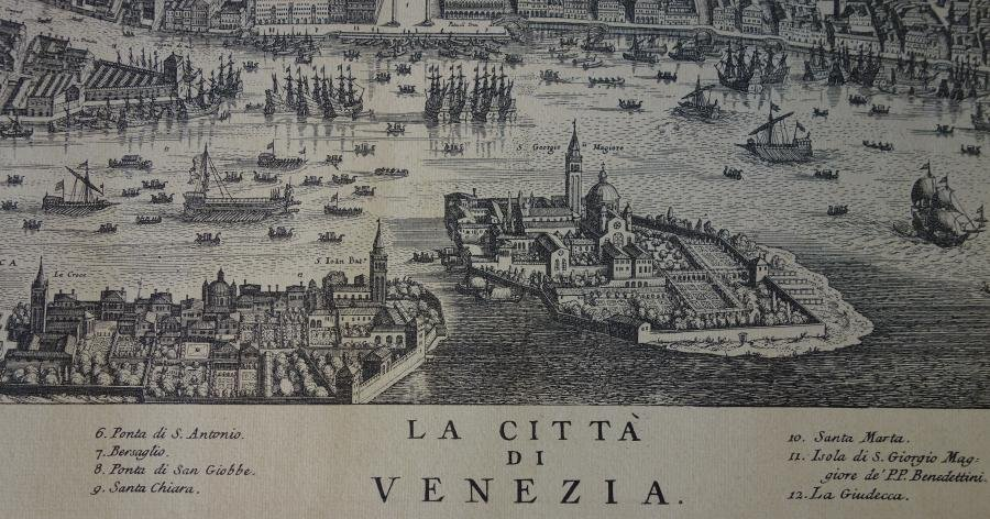 La Citta Di Venezia  Engraving Map of Venice - 3