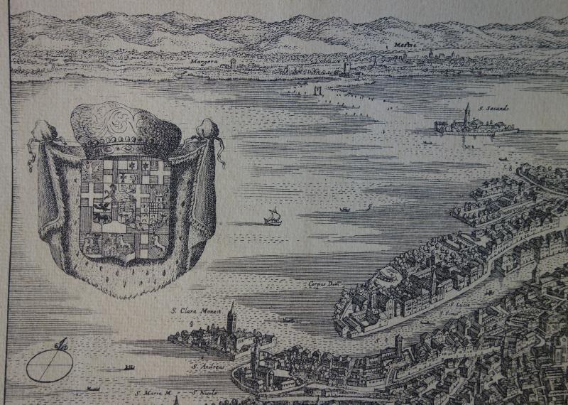 La Citta Di Venezia  Engraving Map of Venice - 4