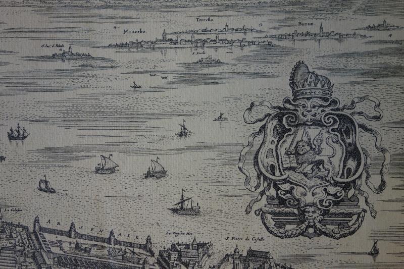 La Citta Di Venezia  Engraving Map of Venice - 5