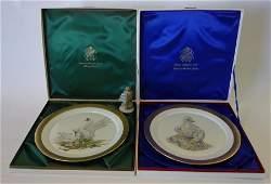 2 Boehm Limited Plates  Warbler Figurine