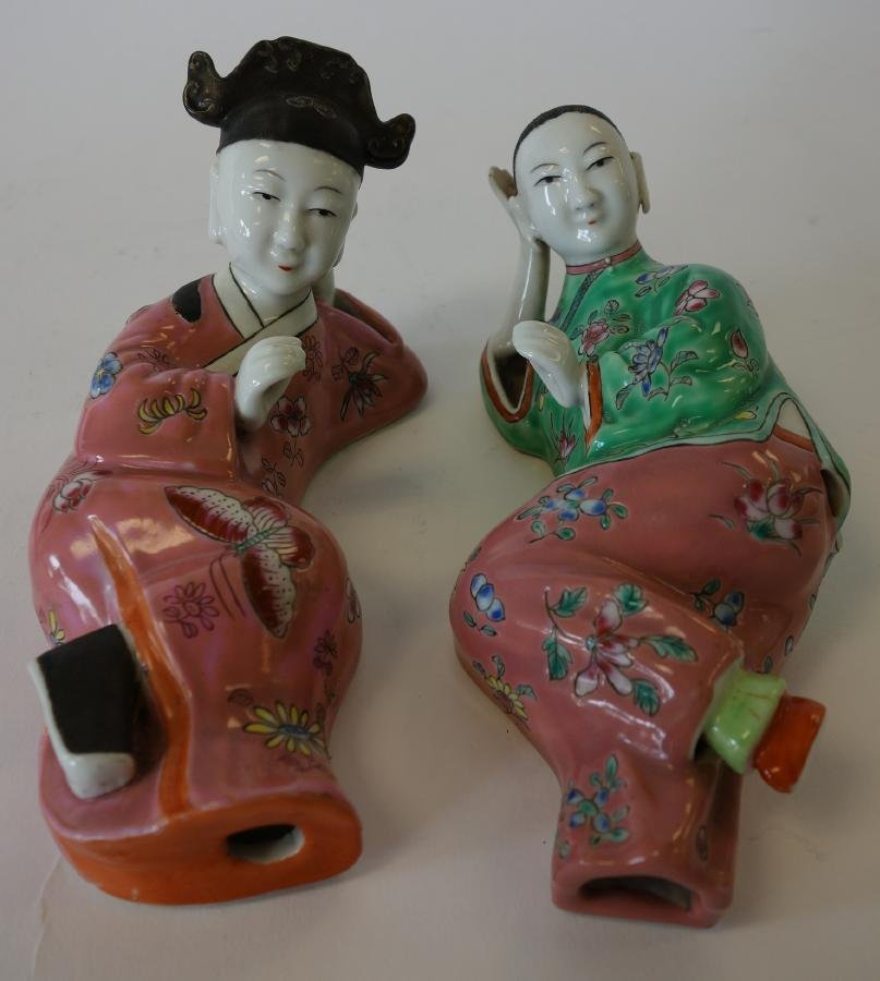 Chinese Porcelain Figural Wall Ornaments