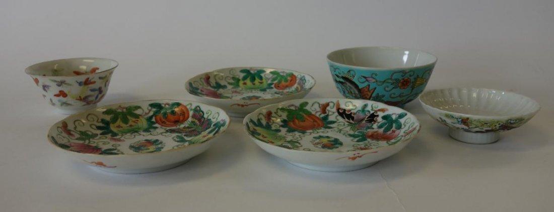 Chinese Porcelain & Enamel Dishes & Bowls, signed