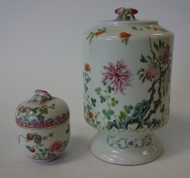 Chinese Porcelain Pot de Creme & Canister Jar