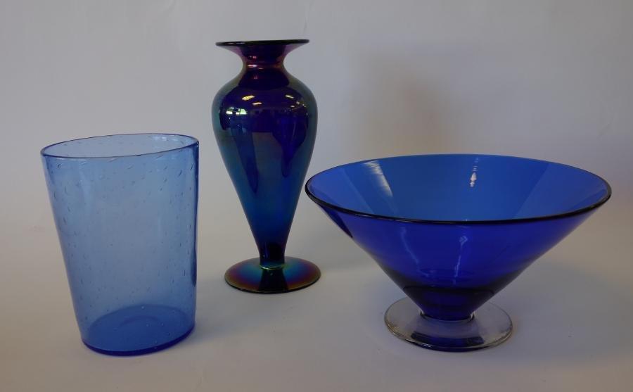 3 Art Glass Vases, Fry +
