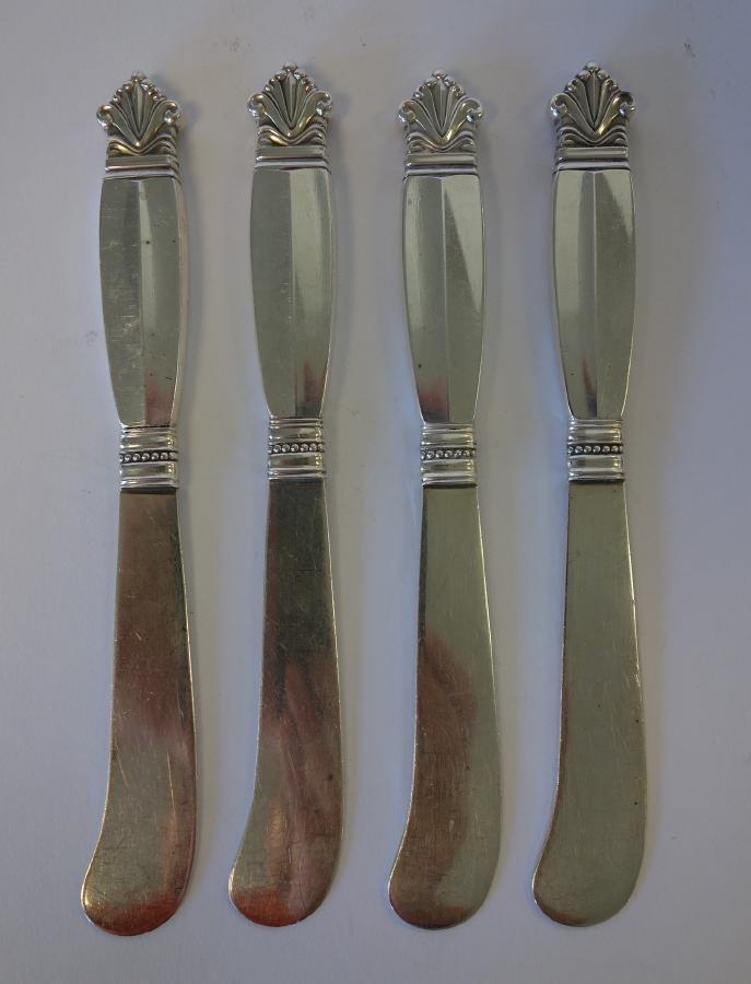 Georg Jensen Sterling Acanthus Butter Knives