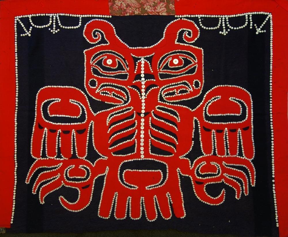 Northwest Coast Kwakiutl Button Blanket