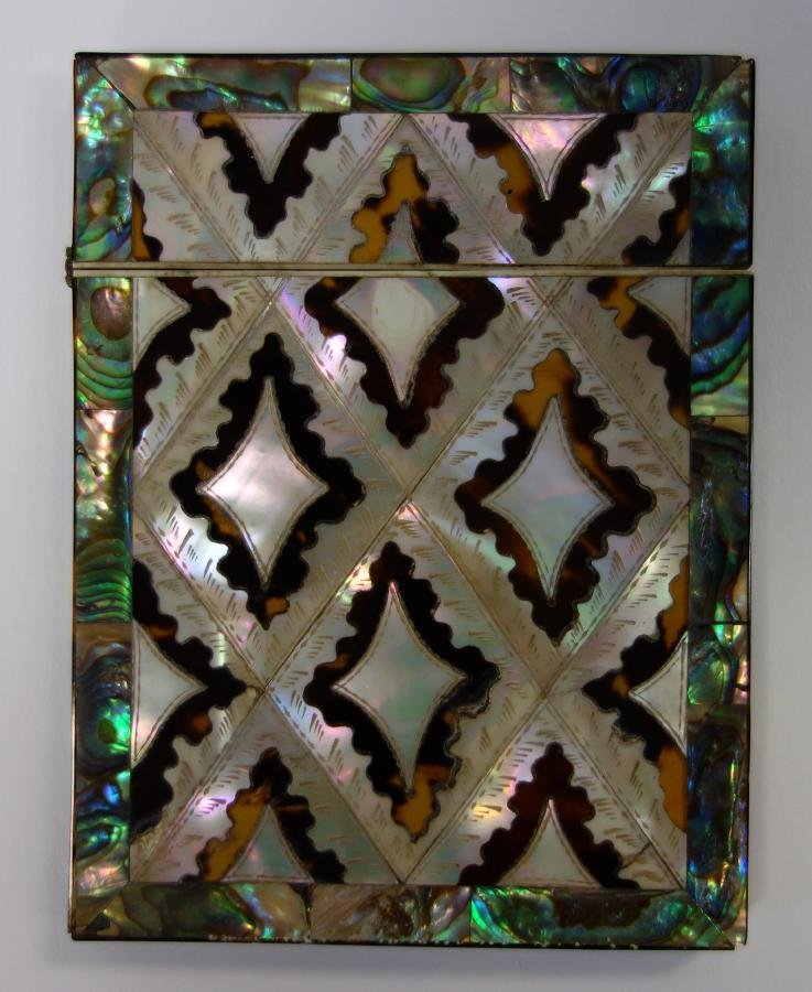 Tortoiseshell, Mother of Pearl & Abalone Card Case