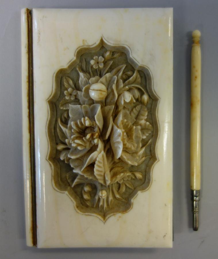 Ivory Cased Notebook, Chicago World's Fair