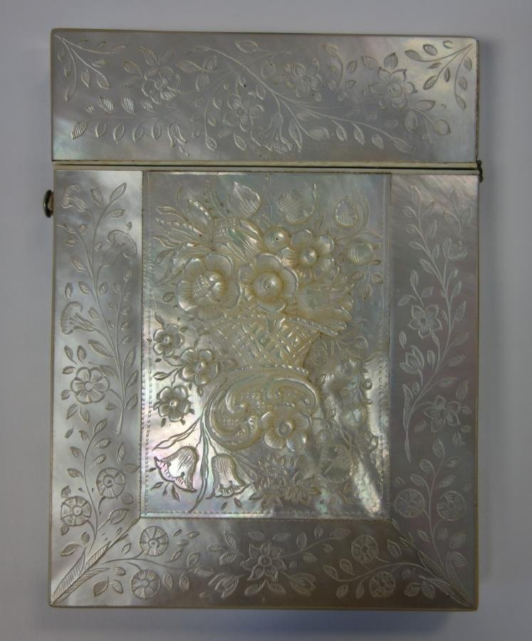 19thc Mother of Pearl Card Case
