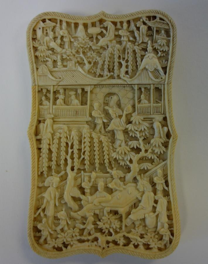 Chinese Carved Ivory Card Case