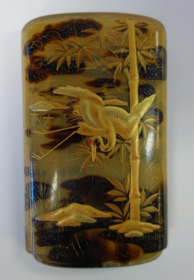 Japanese Gold Lacquer & Tortoiseshell Cigar Case
