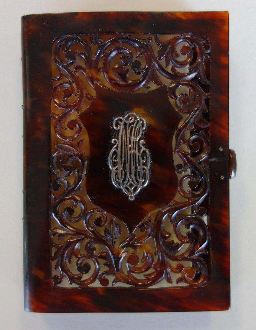 19thc Tortoiseshell & Ivory Notebook