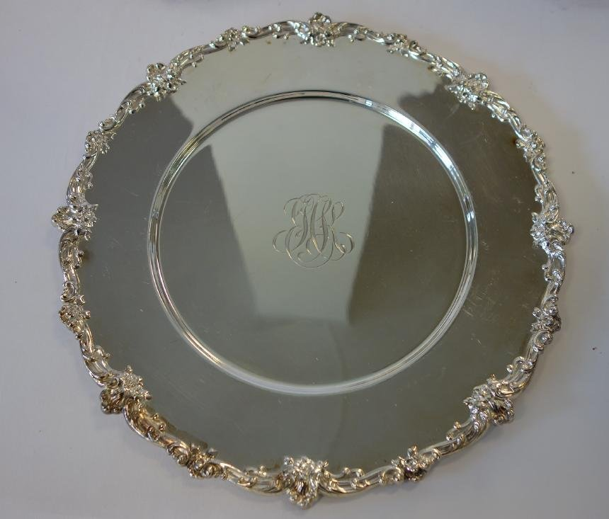12 Gorham Sterling Charger Plates - 2