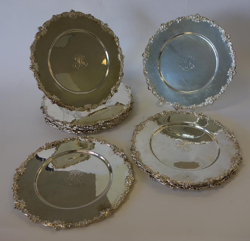 12 Gorham Sterling Charger Plates - 3