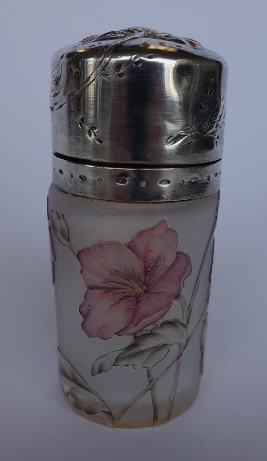 Daum Nancy Cameo Art Glass Perfume Jar