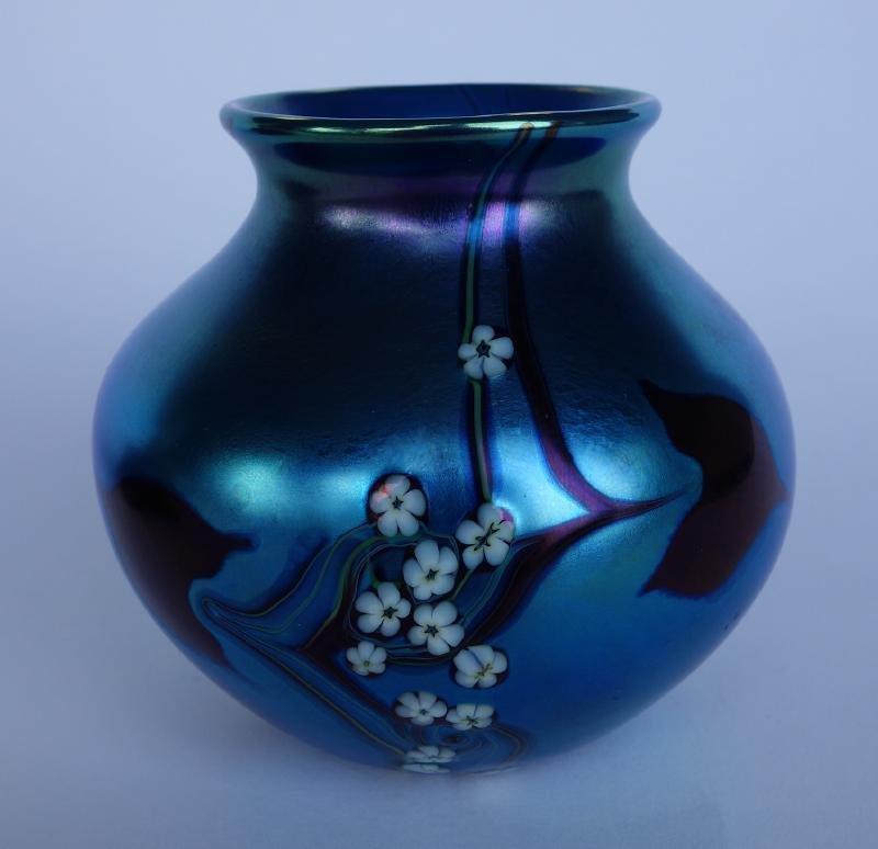 Orient & Flume Iridescent Art Glass Vase