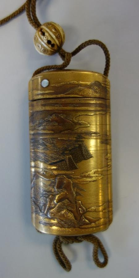 Japanese Gold Lacquer 5 Case Inro