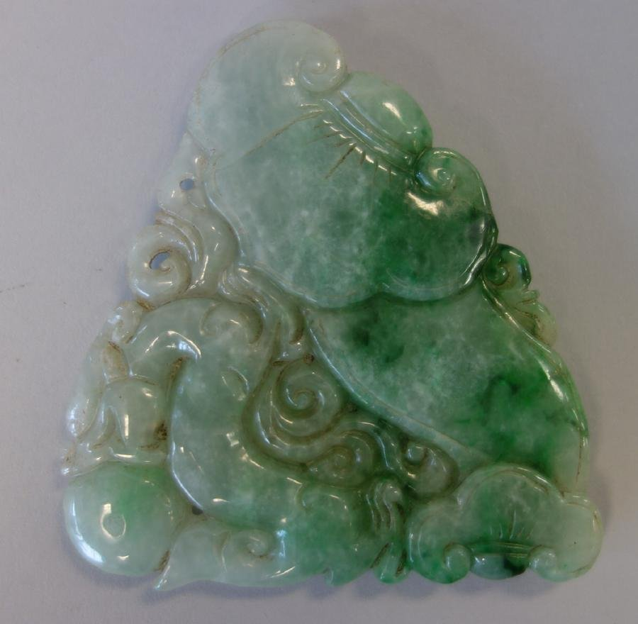 Chinese Carved Jade Panel