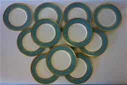 12 Minton for Tiffany Dinner Plates