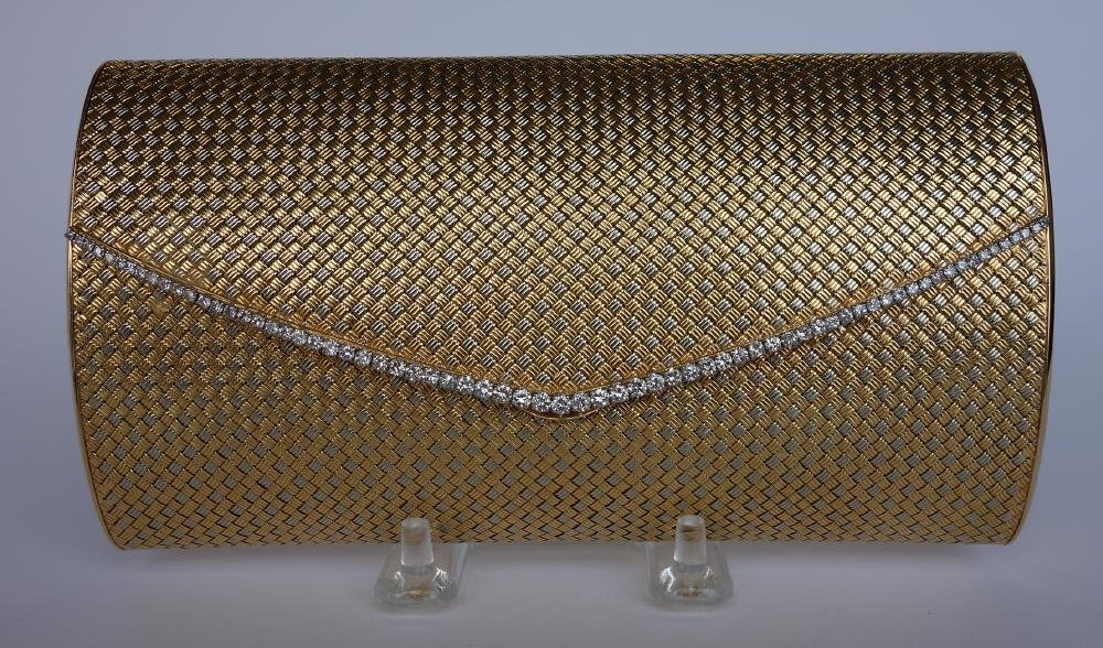 Diamond & 18K Gold Woven Purse, Serra Paris