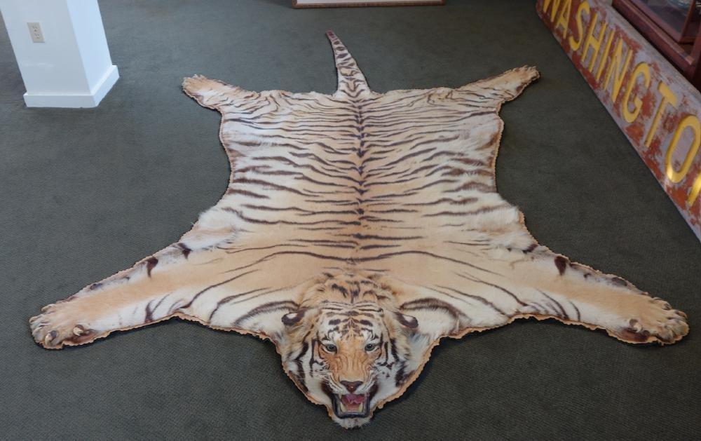 Bengal Tiger Rug Pelt India 1953