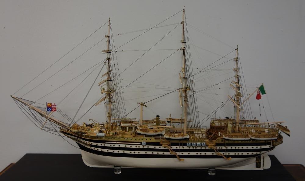 Amerigo Vespucci Cased Ship Model