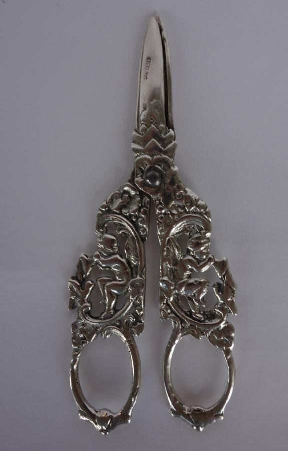Sterling Silver Grape Shears