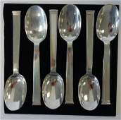 Christofle Sterling Soup Spoons, Commodore