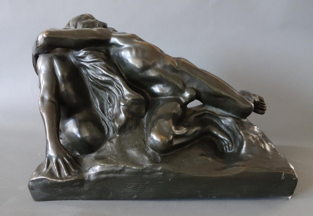 Jef Lambeaux (1852-1908) Bronze, Satyr & Nymph - 4