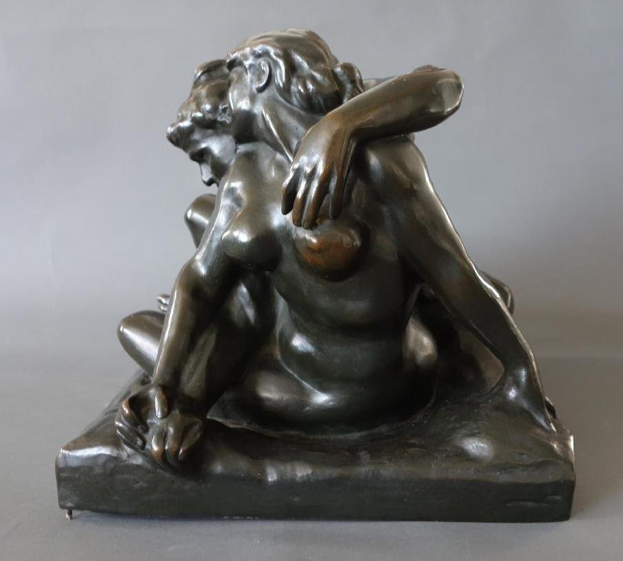 Jef Lambeaux (1852-1908) Bronze, Satyr & Nymph - 5