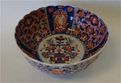 19thc Japanese Imari Porcelain Punch Bowl