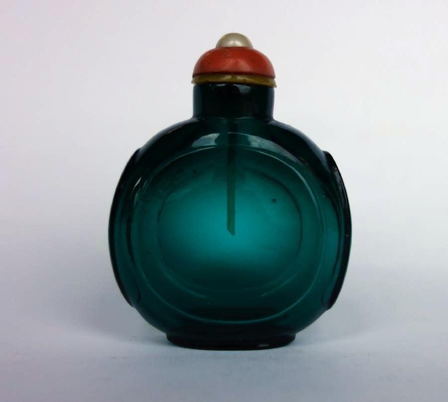 Chinese Emerald Green Glass Snuff Bottle