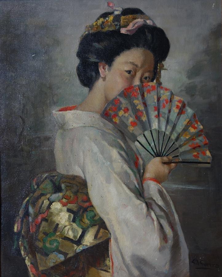 Gil Guerra, Geisha Oil on Canvas