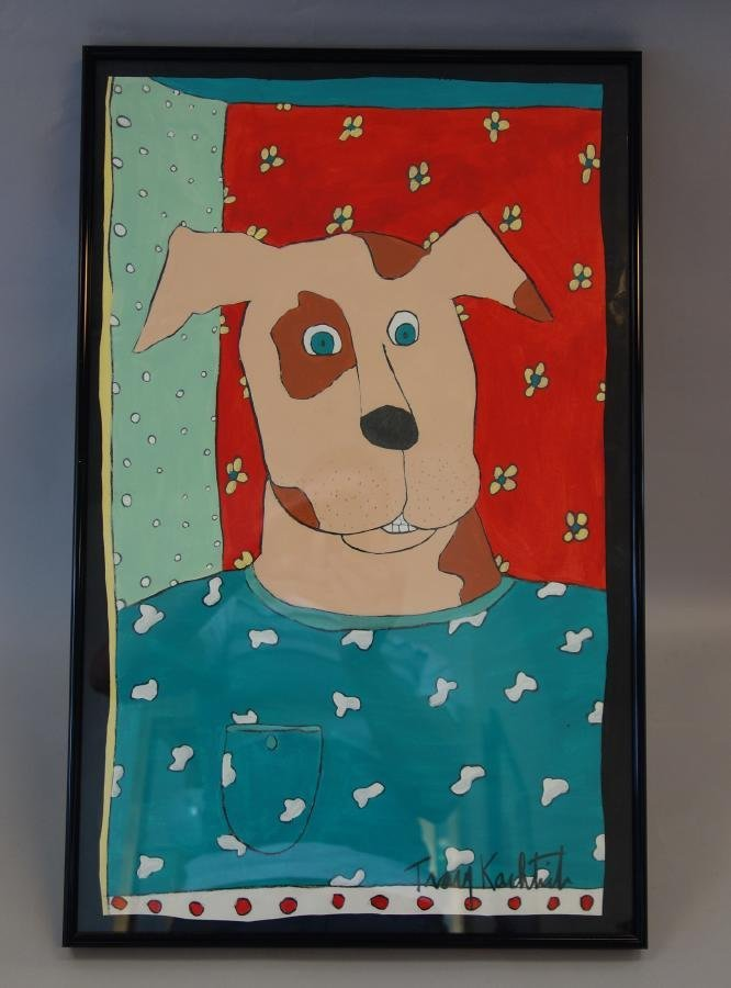 "Tracy Kachtick-Anders ""Dog Portrait"""