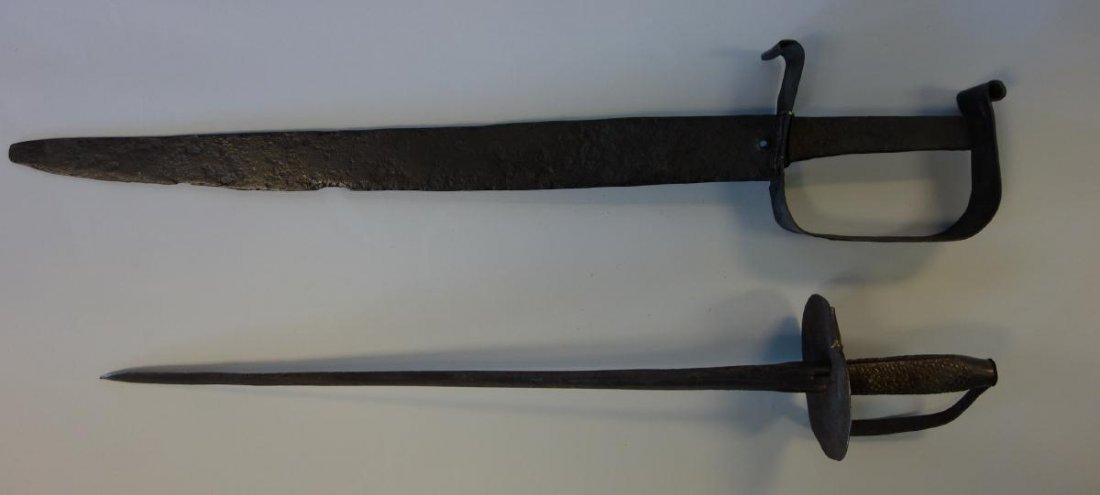 2 Medieval Iron Swords